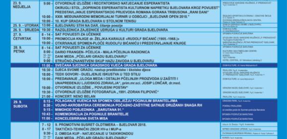 Program za Dan Grada Bjelovara i Dan bjelovarskih branitelja