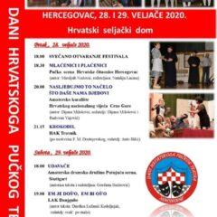 XXVI. Dani hrvatskog pučkog teatra u Hercegovcu – PROGRAM