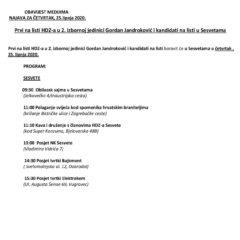 Jandroković i kandidati na listi sutra u . . .