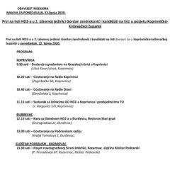 Jandroković sutra u Koprivnici i . . .